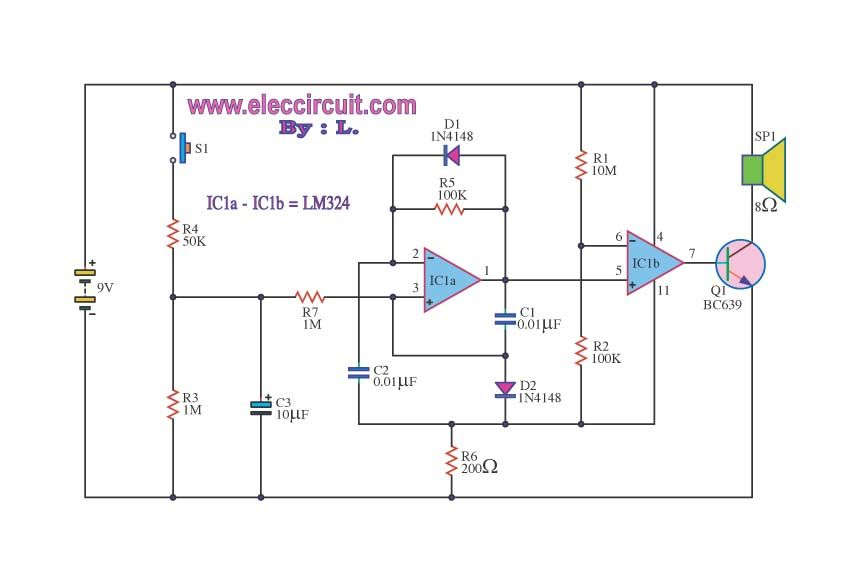 make police siren circuit using 555 timer transistors and op amp rh pinterest com