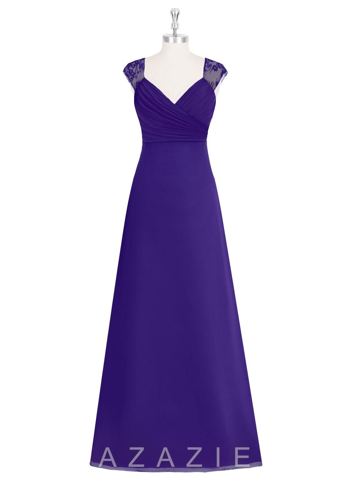 AZAZIE JAIDYN. The graceful floor-length bridesmaid dress by Azazie ...