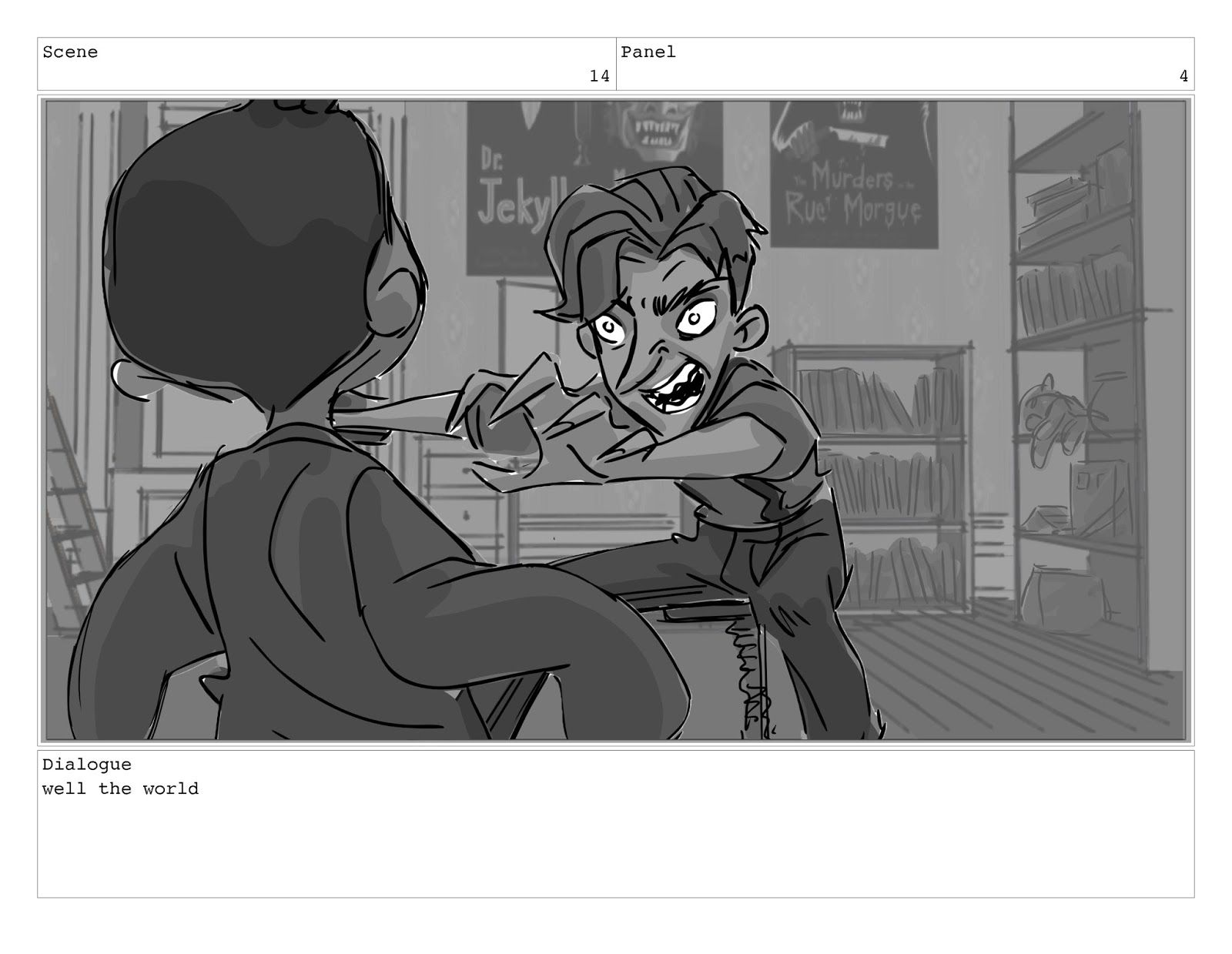 Cool Storyboards By Patrick Collins Dickie The Dolls