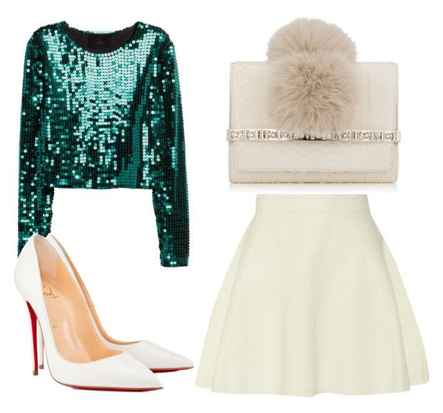 """Untitled #2681"" by evalentina92 ❤ liked on Polyvore featuring Jimmy Choo, 3.1 Phillip Lim, H&M, Christian Louboutin, NewYears, NewYearsEve and newyearscelebration"