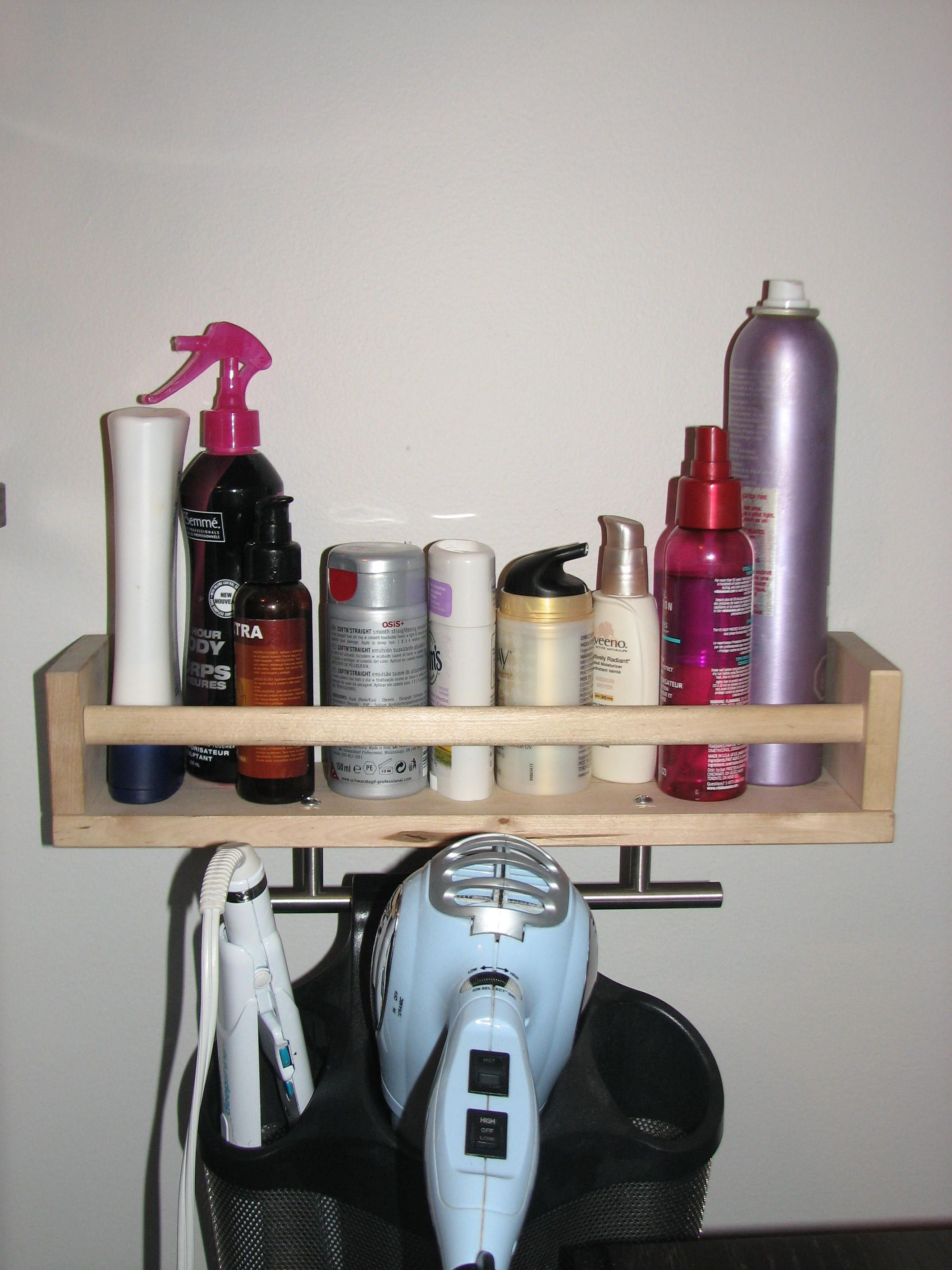 Did it Ikea spice rack to hold my hair products Ikea cabinet