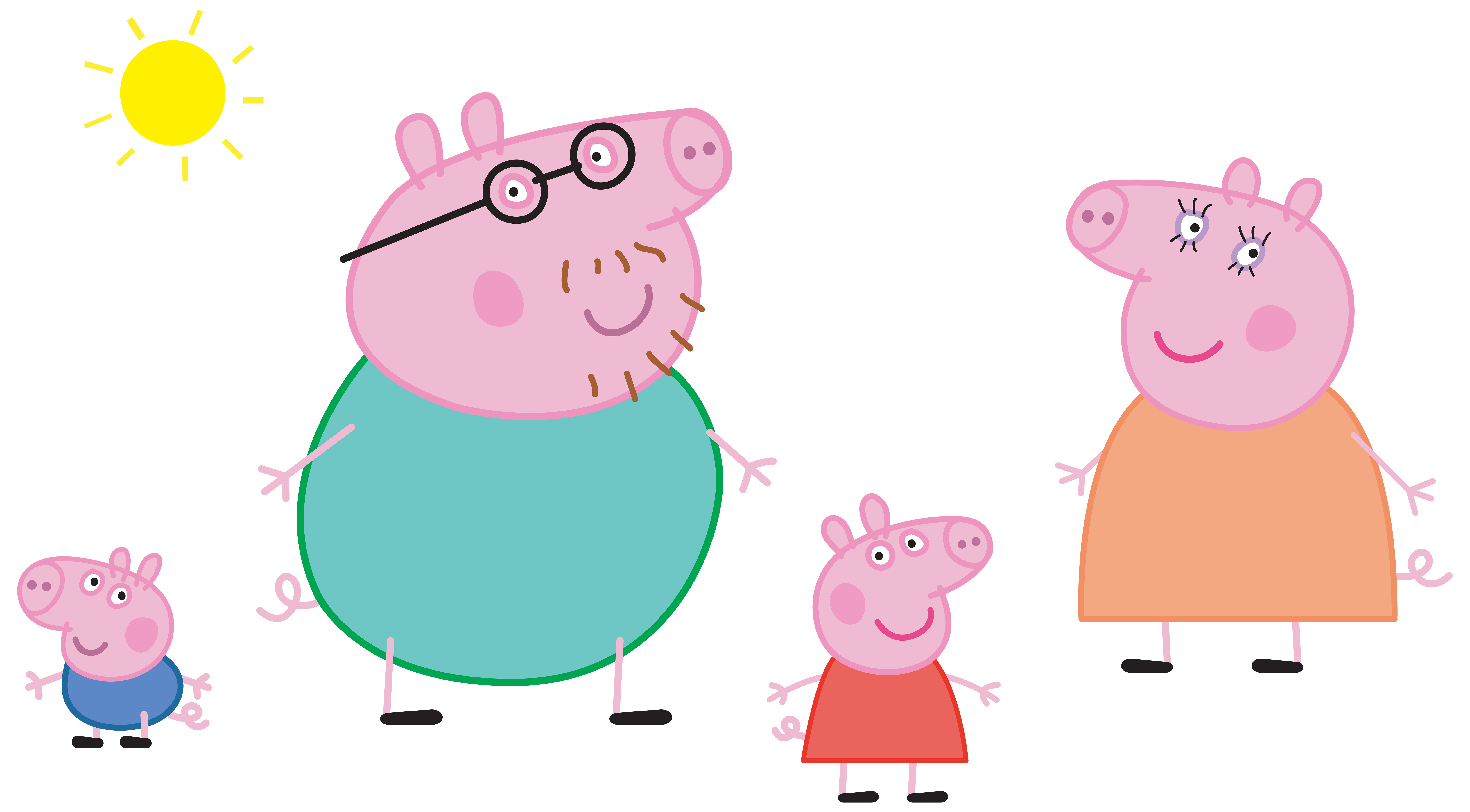 Peppa Pig Birthday Cake Clip Art
