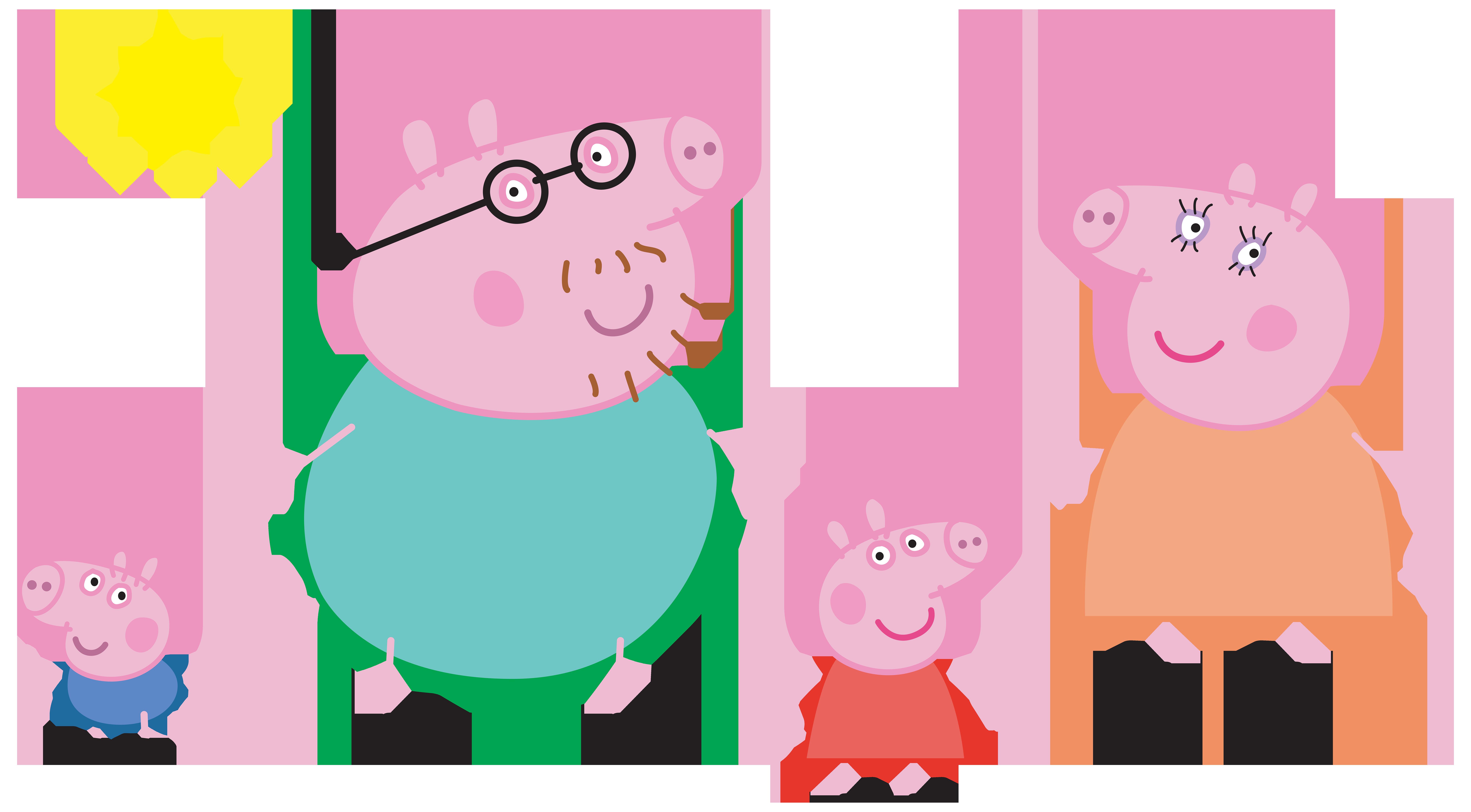 Peppa Pig Family Logo Transparent PNG Clip Art Image