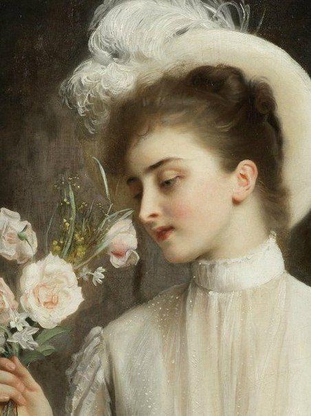 """Gustave-Jean Jacquet ( France 1846 / 1909). """"An Elegant Bouquet ..."""