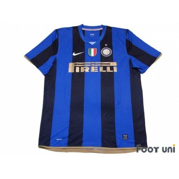 Photo1: Inter Milan 2008-2009 Home Shirt Scudetto Patch/Badge nike ...