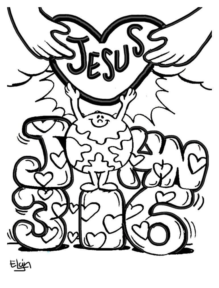 John 3 16 Coloring Page
