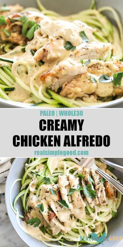 Photo of Creamy, dairy-free and healthy comfort food, this Paleo + Whole30 creamy chicken…