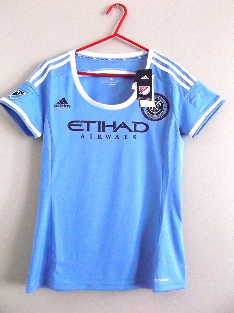 8ade3b26f Adidas New York City FC Etihad Airways MLS Soccer Jersey Ladies M NWT NEW # adidas #Jerseys