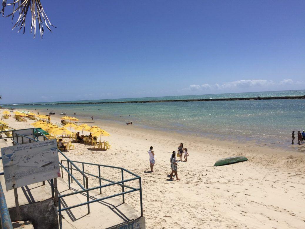 Praia Barra De Sao Miguel Maceio Alagoas Brasil Praia