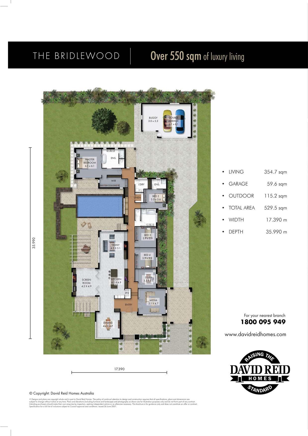 The Bridlewood Floor Plan Concept Range David Reid Homes Australia Luxury Custom Home Builder Floor Plans House Floor Plans How To Plan