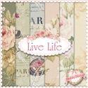 Live Life  6 FQ Set by Yuwa Fabrics