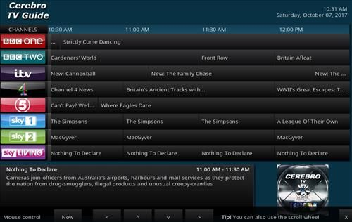 How To Install Cerebro Tv Guide Uk Kodi Add On With Screenshots Pic 2 Tv Guide Kodi Channel 4 News