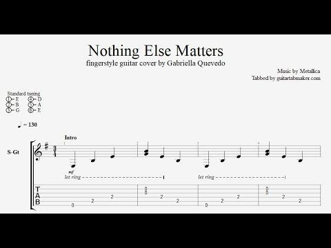 Metallica Nothing Else Matters Fingerstyle Tab Free Download In Pdf And Guitar Pro Formats Fingerstyle Guita Fingerstyle Guitar Guitar Tabs Guitar Lessons