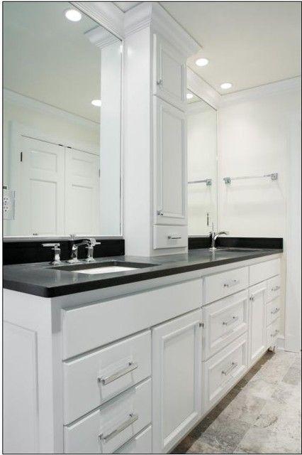 Bathroom Vanity With Tower Google Search Bathroom Cabinets Pinterest Bathroom Vanities