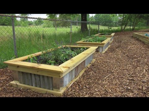 Diy Homemade Raised Garden Bed Youtube Raised Garden Garden