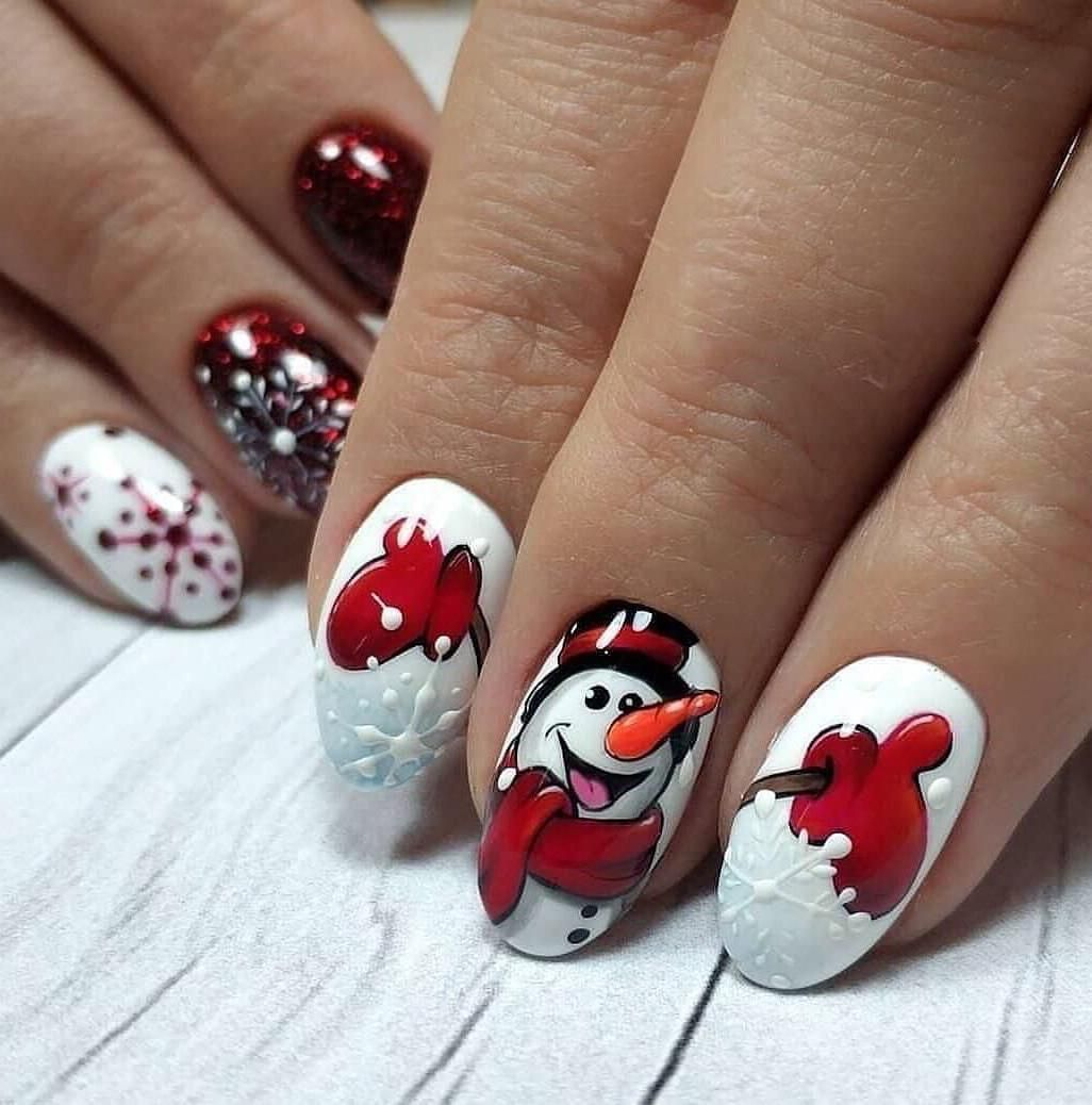 Pin By Eugenia Eguez On świąteczne Paznokcie Christmas Nail Designs Christmas Nails Trendy Nail Art Designs