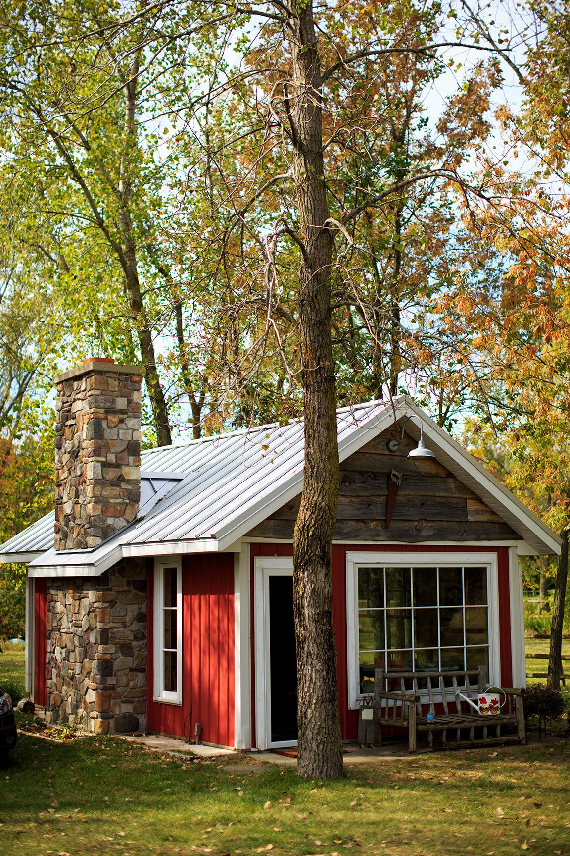 small rustic studio shed cabin photography by kalliewalker com