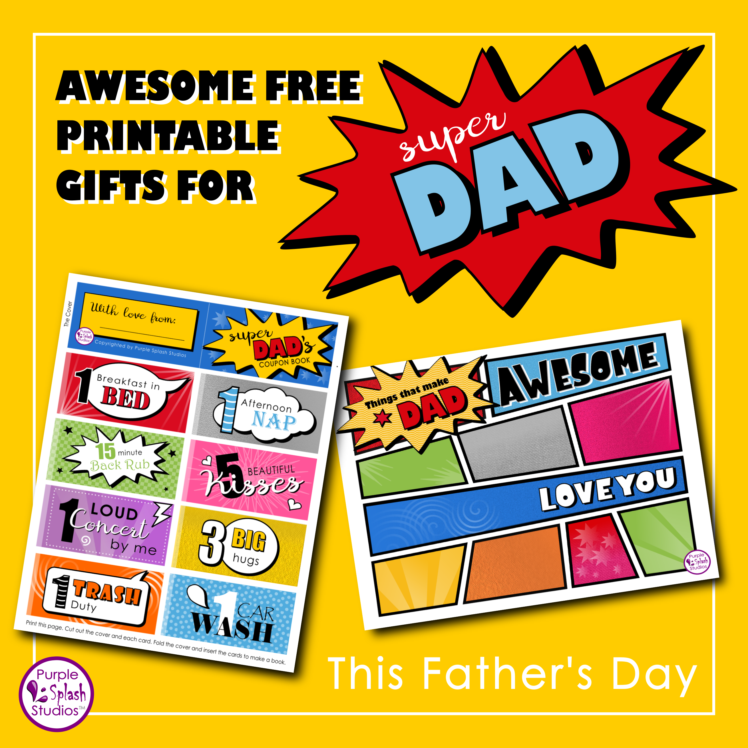 Awesome Gift Or Card Ideas For Dad S Birthday Or Father S Day A