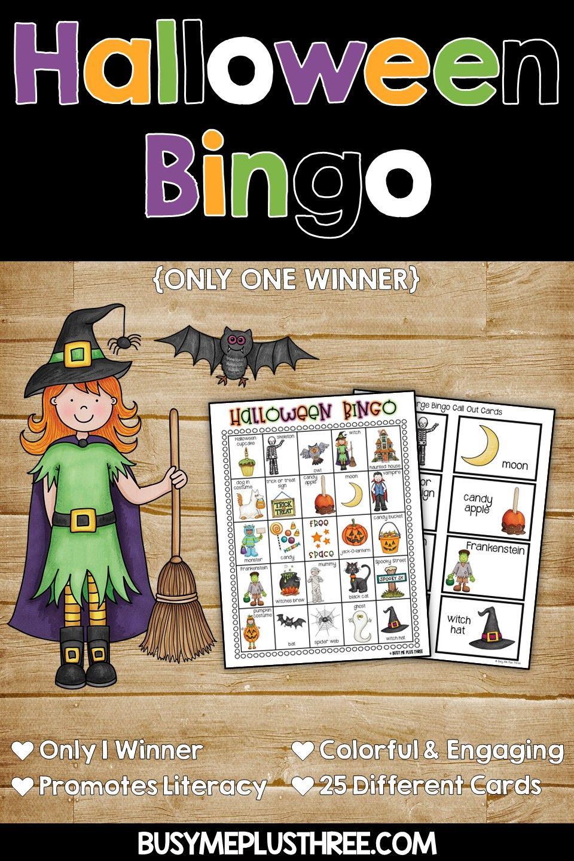 HALLOWEEN BINGO Halloween bingo, Halloween bingo cards