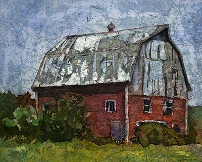 watercolor batik on rice paper   Buildings on Rice Paper - Watercolor Paintings from my show at the ...
