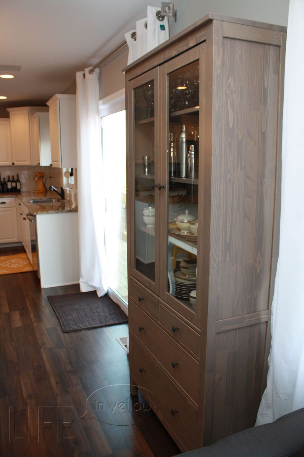 ikea dining room hutch   Ikea Hemnes hutch...want this for our dinning room   D I G ...