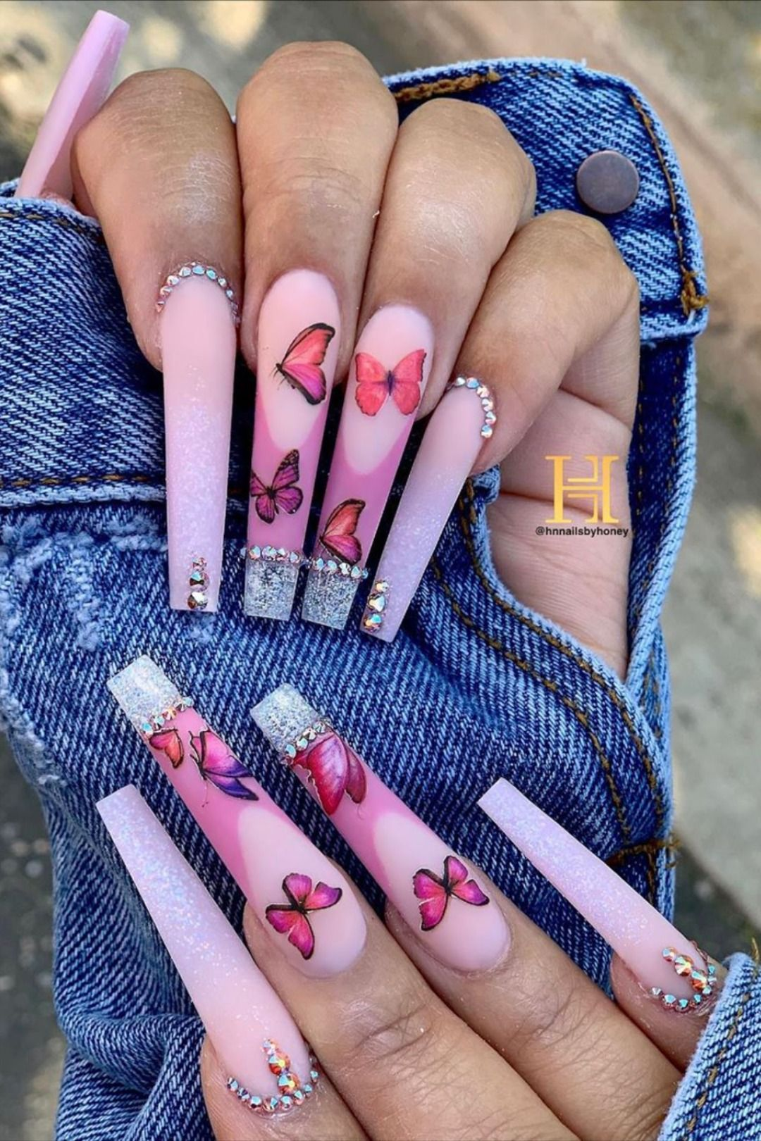 Cute Spring Long Coffin Nails Ideas Of 2020 Stylish Belles In 2020 Long Acrylic Nail Designs Bling Acrylic Nails Coffin Nails Long