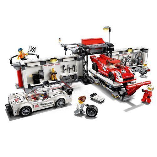 Amazon.com: LEGO SPEED CHAMPIONS: Porsche 919 Hybrid & 917K Pit Lane ...