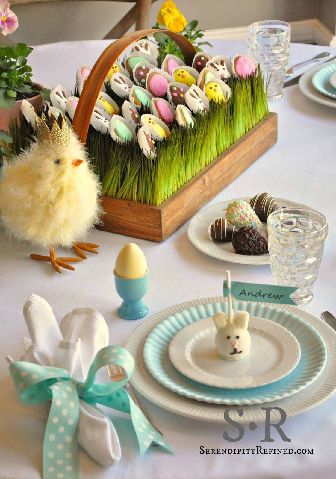 Easter Table Decorations Part - 40: Serendipity Refined Blog: Pastel Spring EDIBLE Easter Table Decorating