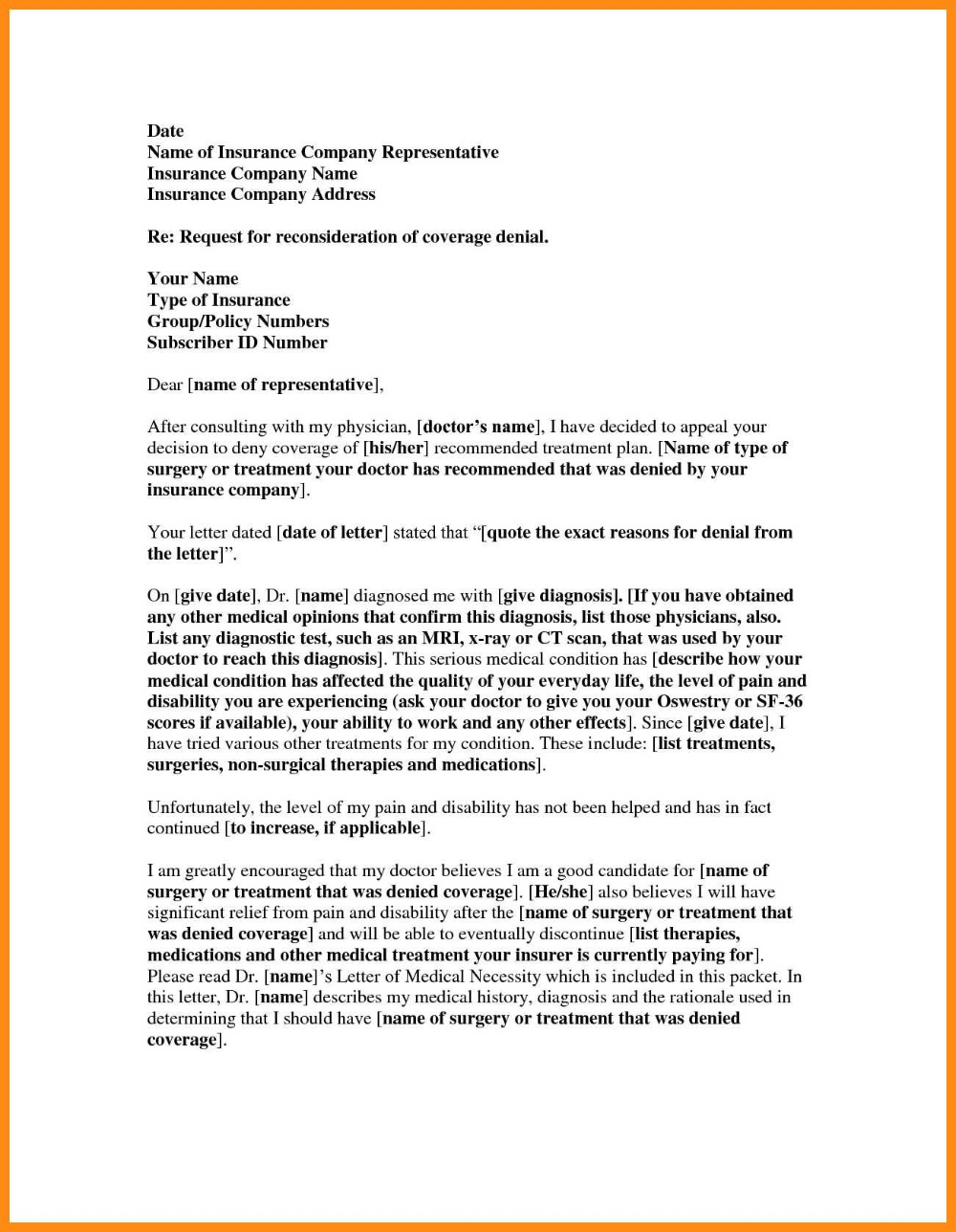 Insurance Denial Letter Template Elainegalindo Inside Insurance