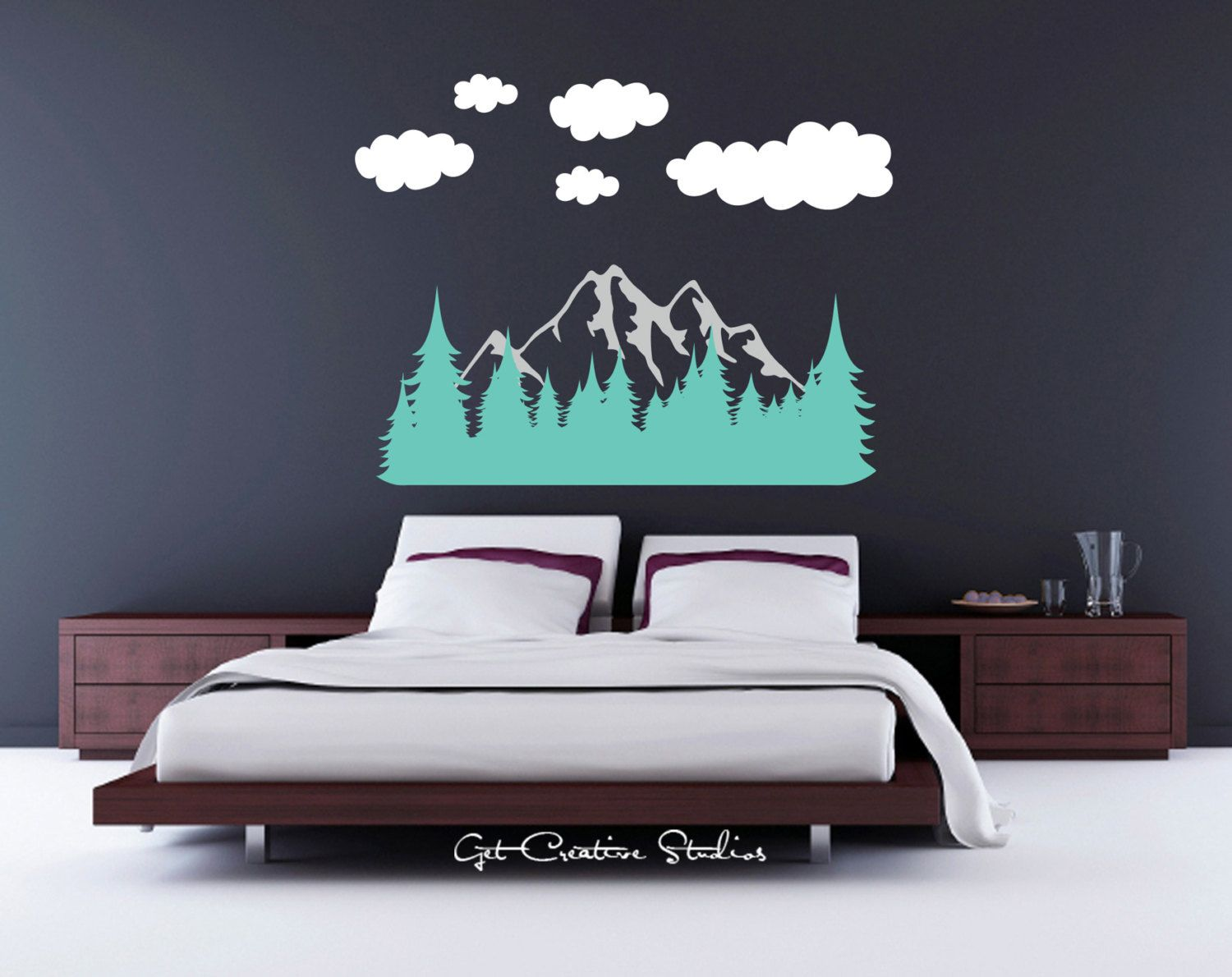 Forest wall decal tree decal mountain wall decal mountain range forest wall decal tree decal mountain wall decal mountain range decal pine tree decal rocky mountain amipublicfo Choice Image