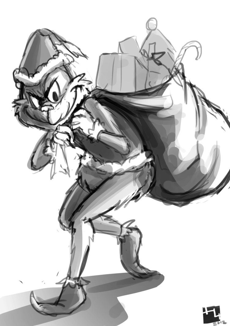 How the Grinch Stole My Xmas :. sketch by Hikari151   Christmas ...