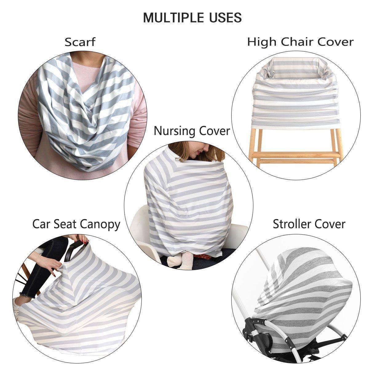 HONEY$HOMEY Camouflage Baby Car Seat Cover Multi-Use Nursing Breastfeeding Scarf High Chair Stroller Head Cover
