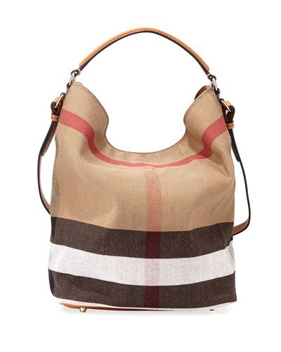 d784cc98f1f BURBERRY Susanna Medium Canvas Calfskin Tote Bag, Saddle.  burberry  bags   leather  hand bags  canvas  tote