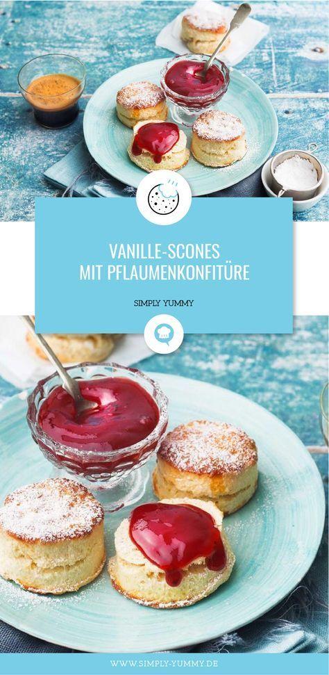 Photo of Vanilla scones with plum jam