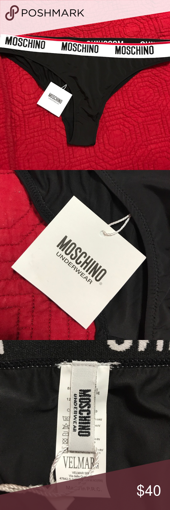 81cce78768 👙MOSCHINO BLACK WOMENS UNDERWEAR! Brand new with tags Moschino women s  underwear in a size XL!! These are very soft and stylish!! Get them quick  before hey ...