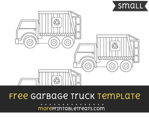 free garbage truck template small shapes and templates