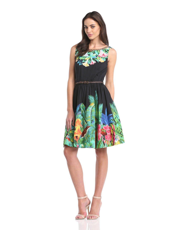 Derhy Damen Plissee Kleid Tilleul: Amazon.de: Bekleidung