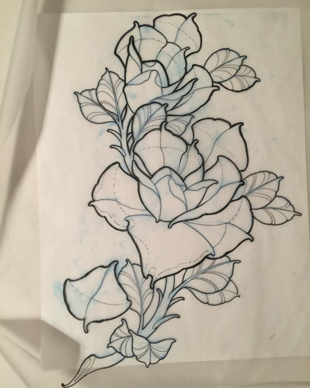 Roses I Should Be In Bed Japanese Flower Tattoo Flower Drawing Neo Traditional Roses