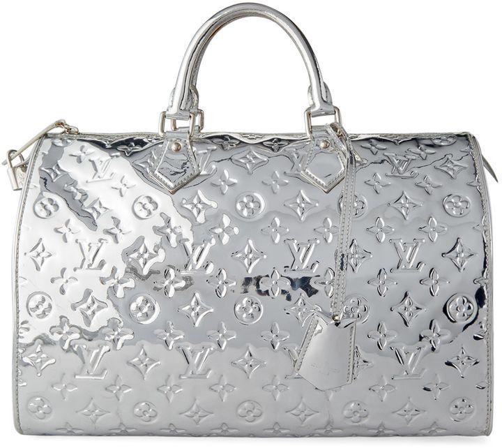81e4c4a19750 Louis Vuitton Limited Edition Silver Monogram Miroir Speedy 30 Bag ...
