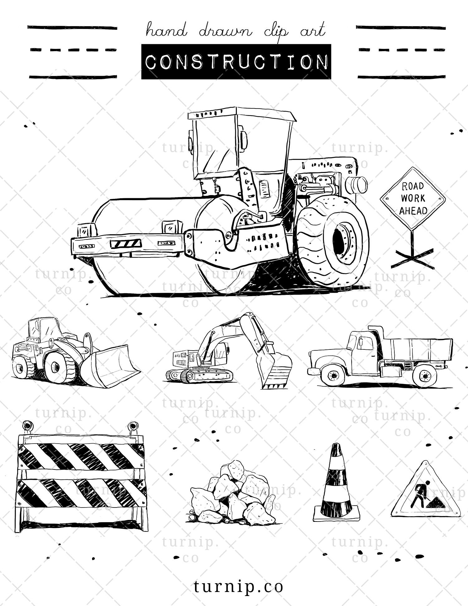 Construction Truck Clipart Black And White Dump Truck