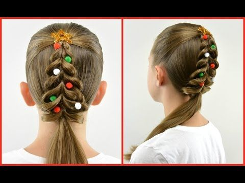 8 Festive Girls Christmas Hair Style Ideas With Tutorials In The Playroom Christmas Hairstyles Holiday Hairstyles Christmas Hair