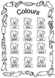 English Worksheets colours Vocabulary worksheets