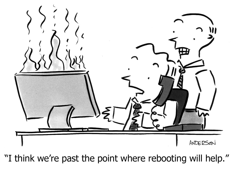IT Support Joke Cartoons Tech Toons Bomgar Computer