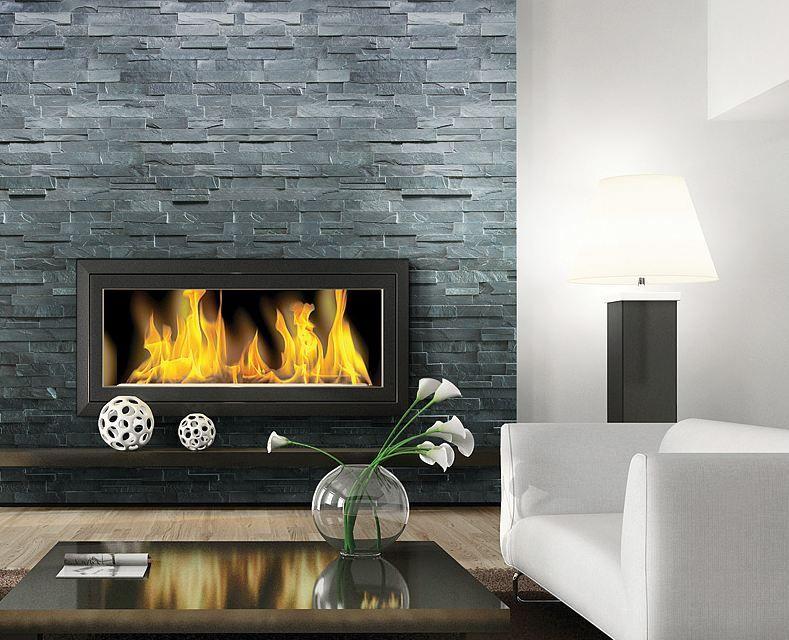 Fireplace Tile Slate, Charcoal Slate Fireplace Hearth Tile