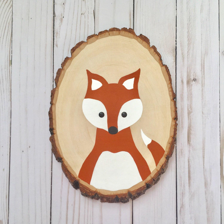 https://www.etsy.com/listing/385419614/fox-wood-slice-woodland-nursery-art-fox