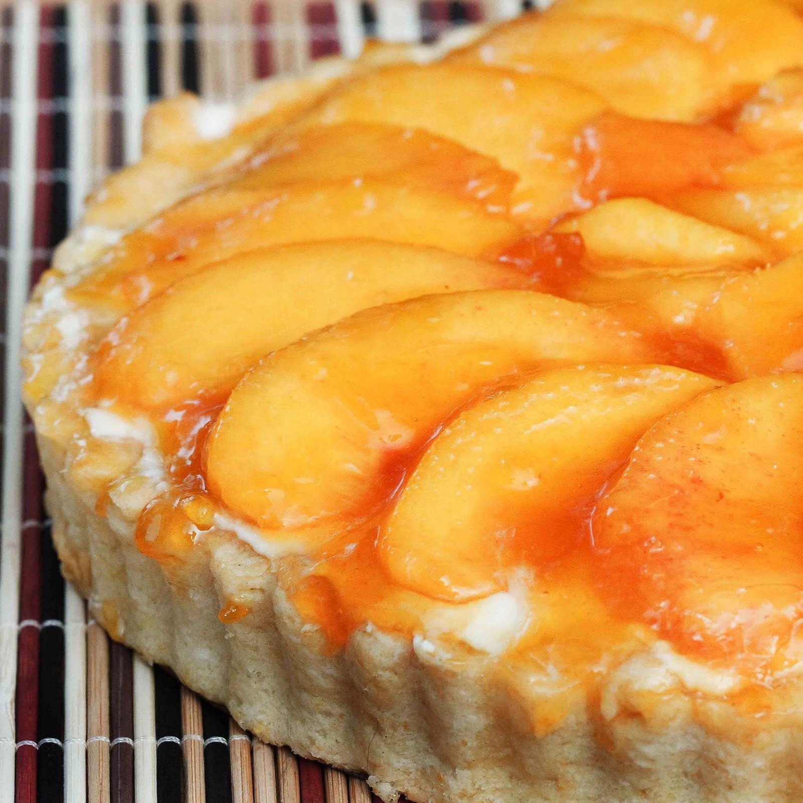 No Bake Peach Tart