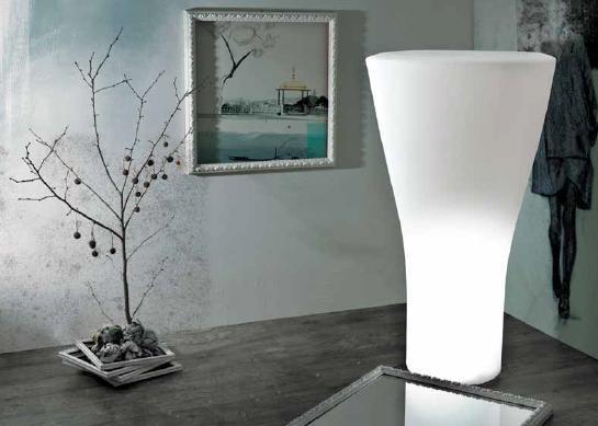 21st Living Art Sixty Lit Pot Flower Pots Pure Decor Metal Flower Pots