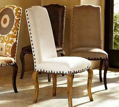 Calais Chair in espresso stain, light weight suede for ...