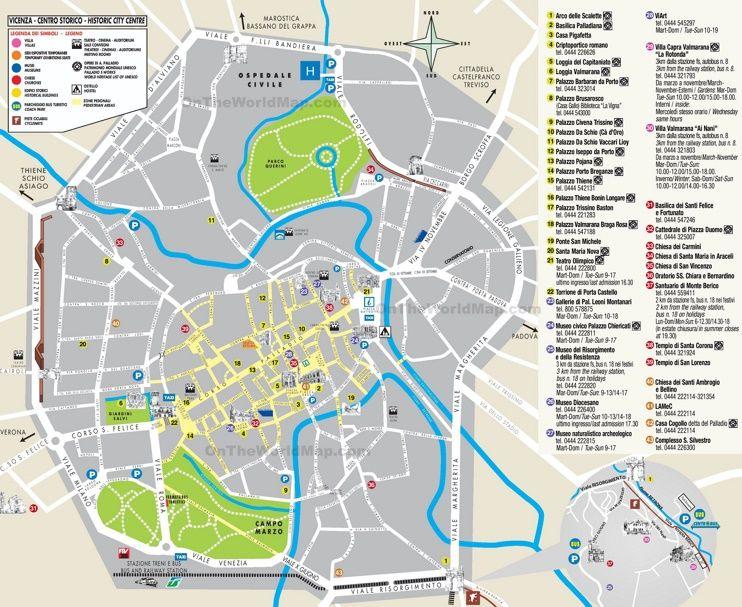 Vicenza Tourist Map