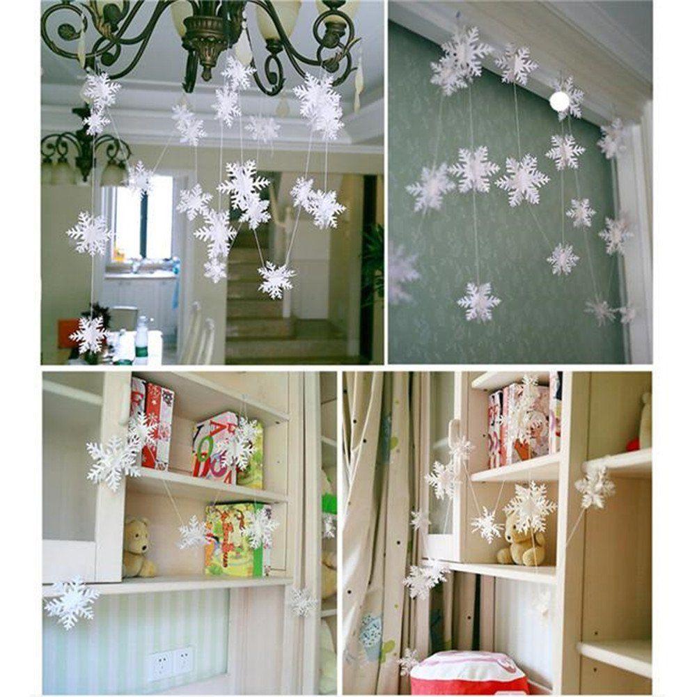 HENGSONG Weihnachtsdeko H/ängegirlanden Schneeflocke Hochzeit Neujahr Party Home Zimmer Dekoration Fensterdeko Weihnachtsschmuck 1PC